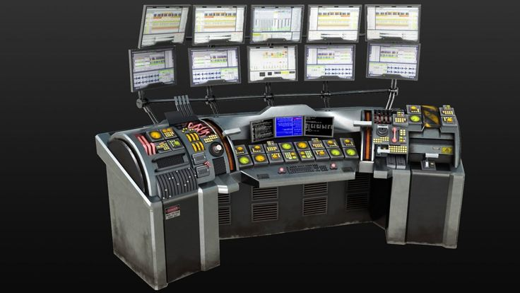 Sci Fi Control Levers : Sci fi command console google search