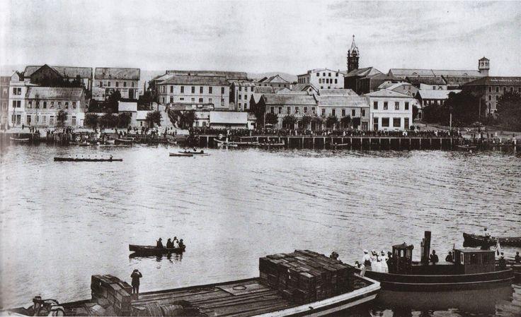 Avenida Arturo Prat entre  Chacabuco y libertad 1909