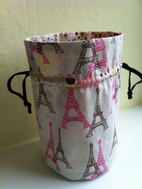 Tuto sac cylindre... Round drawstring pouch - Full tutorial.