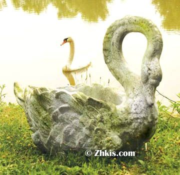 210 best garden animal statues images on pinterest animal beautiful swan planter that is a classic for a front porch or patio this is sciox Image collections