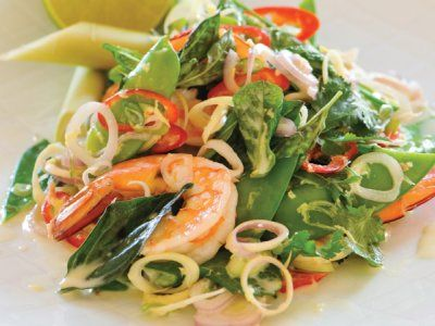 Thai prawn and snow pea salad recipe. Healthy #recipes for the whole family!