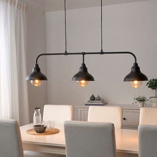 pendant lighting over dining table