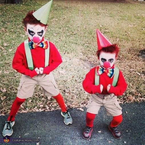 scary kid clowns halloween costume contest via
