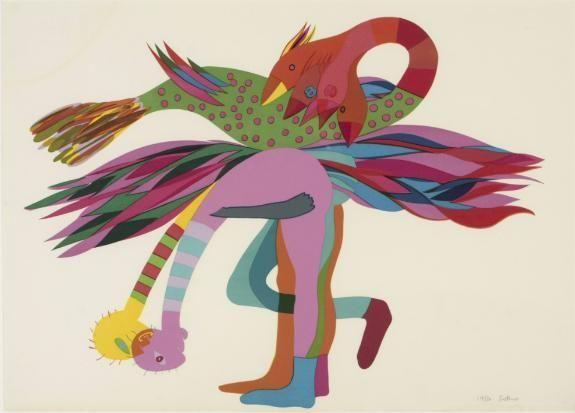 Walter Whall Battiss (1906-1982). UMPUNDULU BIRDS undated. Colour silkscreen 19/30, 42 x 59cm.