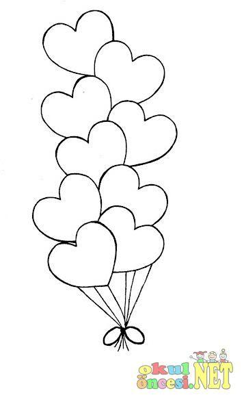 Balon Boyama Sayfası Resimlere Göre Ara Red