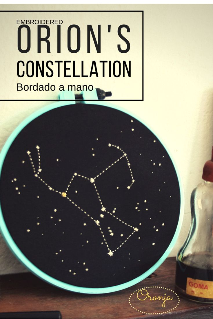 Embroidery Orion Constellation