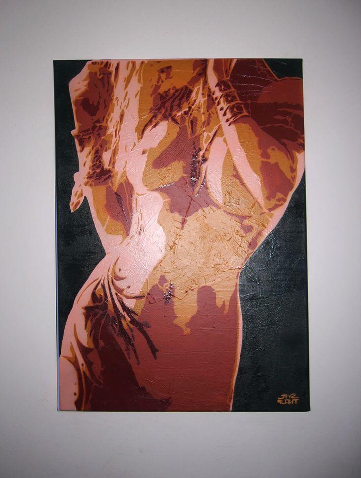 """Desire"" 4 layers stencil on 50x70 canvas"