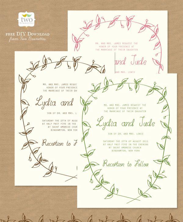 wedding invite formats