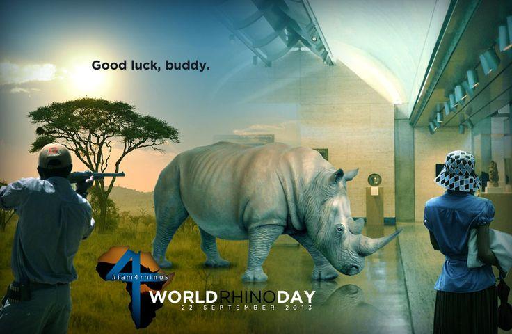 World Rhino Day - 22 September 2013. Good luck, buddy.