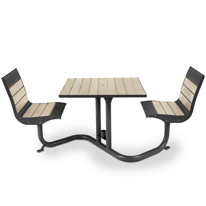 Beacon Hill Bamboo Bistro Table With 2 Contour Seats | Picnic Tables |  Upbeat.com