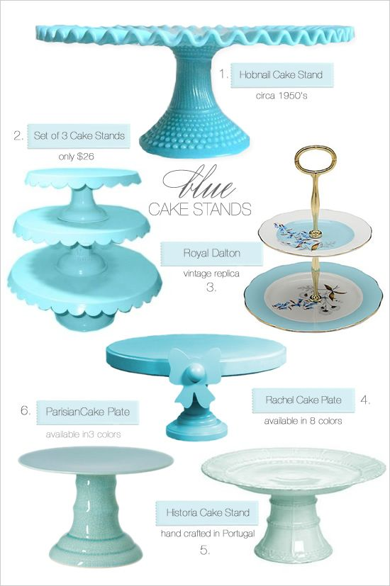 blue cake stands  sc 1 st  Pinterest & 259 best Cake stands and dome images on Pinterest | Cake plates ...