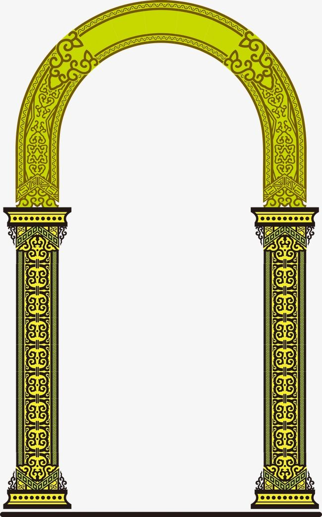 Arches Pattern Pillar Design Print Design Pattern Digital Borders Design
