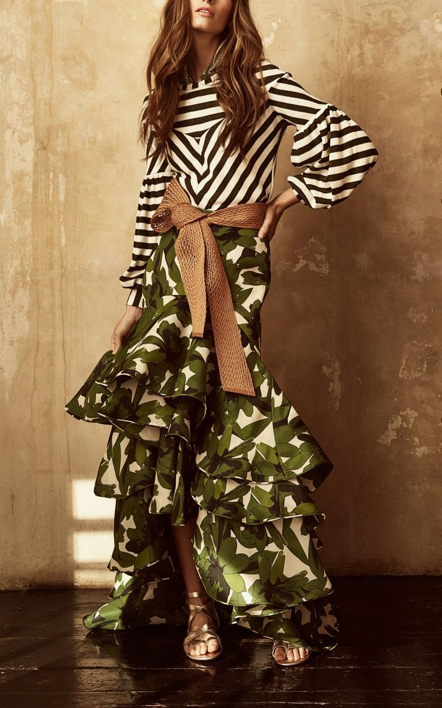 La Penca Silk Gazaar Skirt by Johanna Ortiz