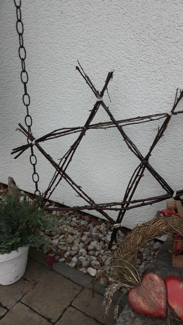 Stern aus Zweigen/ Deko