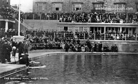 Two Photographs Of The Outdoor Bathing Pool In Old Hartlepool Which Was Destroyed By The Storm