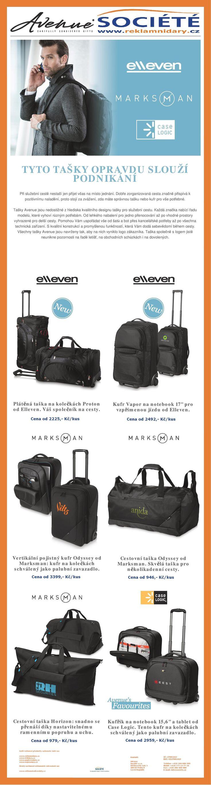 Značkové tašky a kufry na cesty