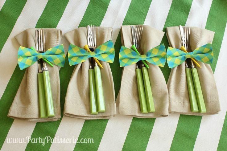 Bow Tie Napkin Rings DIY~Father's Day Celebration...