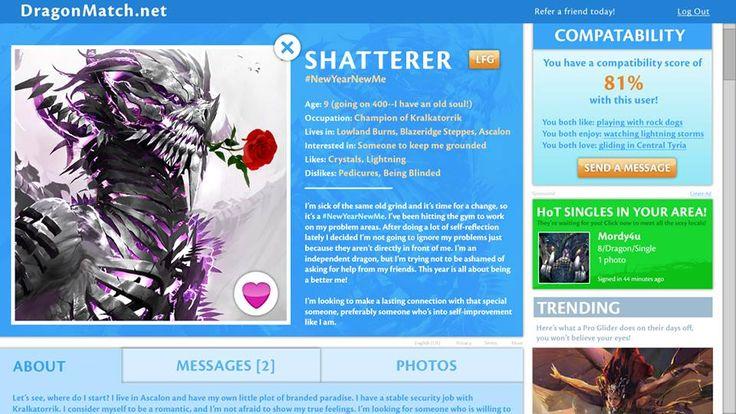 the Shatterer dragon dating profile spoof Guild Wars 2