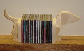Dachshund Book- or DVD/CD Holder - Free pattern and step by step Photo tutorial - Bildanleitung und gratis Schnittvorlage