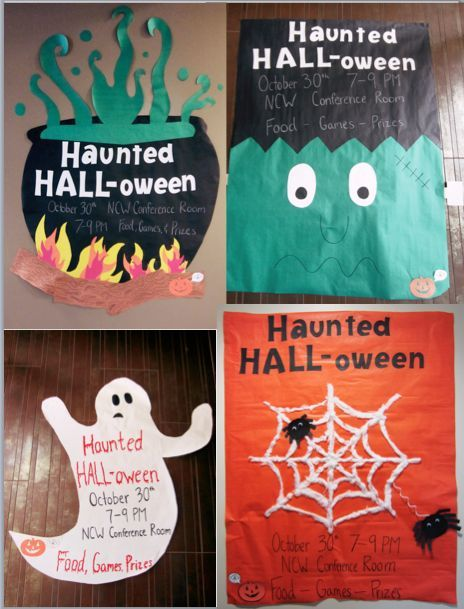 Large scale advertisements for a Halloween event