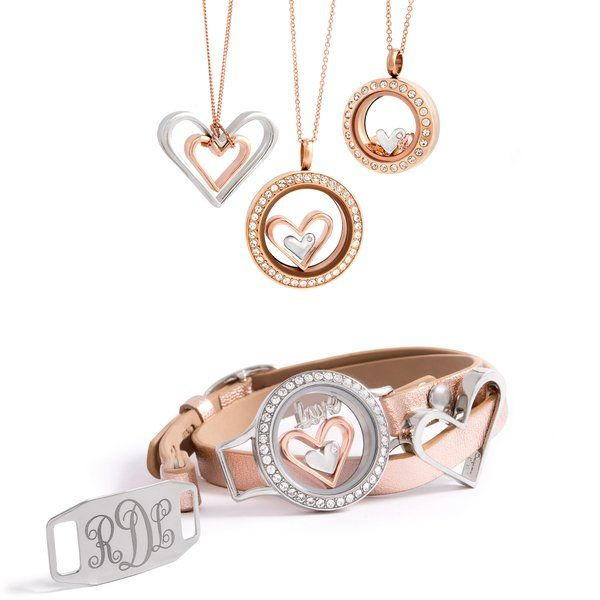 Brand new nesting hearts from Origami Owl can be worn so many different ways! Love it! Head to erinsybouts.origamiowl.com to get yours #origamiowl