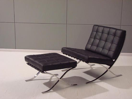 Barcelona Chair designed originally by Modernist Architect Ludwig Mies van der Rohe