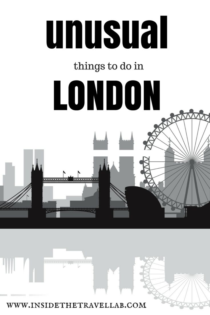 Unusual things to do in London from @insidetravellab