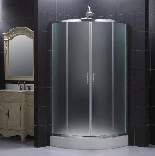 dreamline sector 31 x 31 x 73 frosted glass shower enclosure by dreamline
