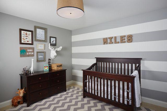 grey chevron rug Nursery Traditional with accent walls dark brown wood crib Gray Chevron Rug