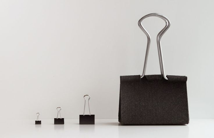 Felt Clip Bag design by Peter Bristol | Tododesign by Arq4design