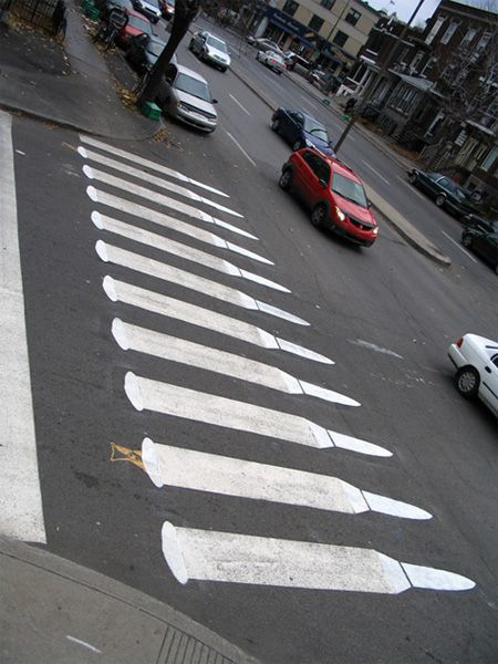 Crossing 03  Pedestrian Street Art by Peter Gibson http://restreet.altervista.org/peter-gibson-lartista-che-trasforma-le-strade/