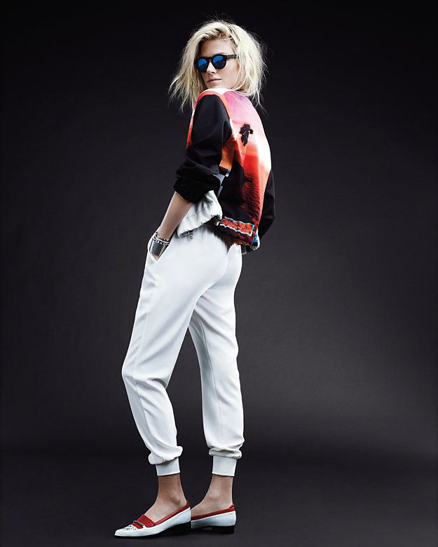 Joie Cropped Jogging Pant: White