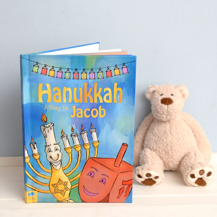 Looking for a fun way to introduce your child to the history of Hanukkah? Our Personalized Hanukkah Story Book is just perfect! This unique story follows a Dreidel, personalized with your childs Name, who is taken back to ancient Jerusalem 2000 years ago. They get to meet the all-important Maccabees, visit the temple and learn all about the miracle that brought about the Jewish Festival of Light. #Hanukkah #FestivalOfLights