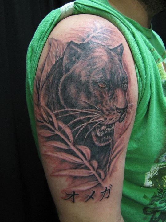 1000 images about panther tattoos on pinterest lion for Panther tiger tattoo