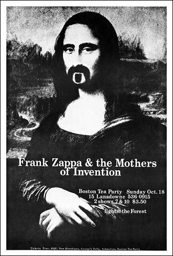Frank Zappa & Mothers of Invention  Flip 90 degrees and print onto transfer paper to make tshirt for Julian