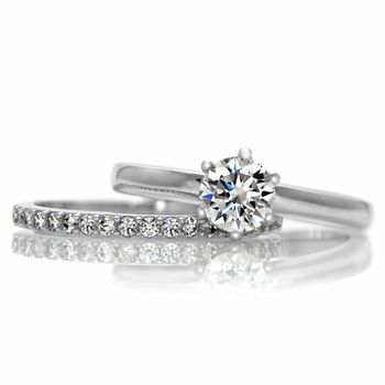 Gabriellau0027s Petite Wedding Ring Set   Id Want This In White Gold. And If I