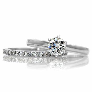 Gabriella's Petite Wedding Ring Set - Id want this in white gold. And if I go this simple route, a princess cut; LOOOOOOOOOOVE.