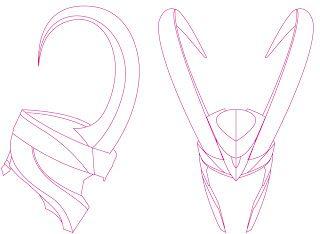 Loki helmet lineart 2013