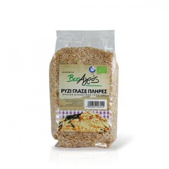 biotrofi.gr- Βιολογικό ρύζι κοντό πλήρες 500γρ Βιοαγρός
