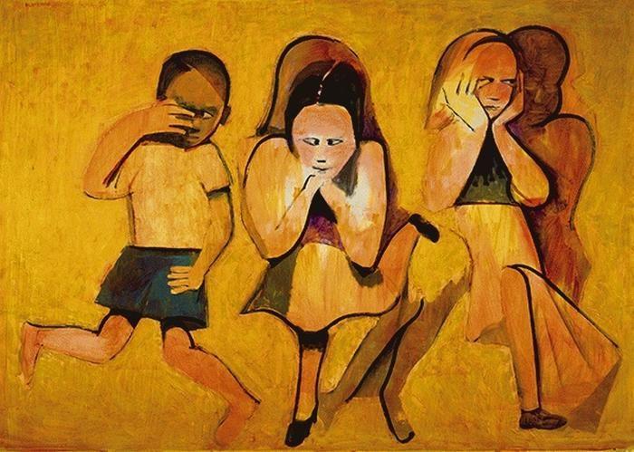 Charles Blackman Children Playing