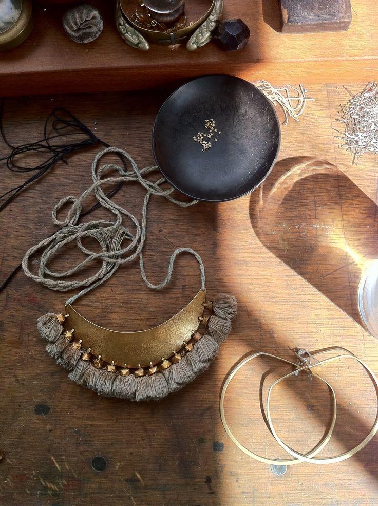 hazel cox - tasseled necklace