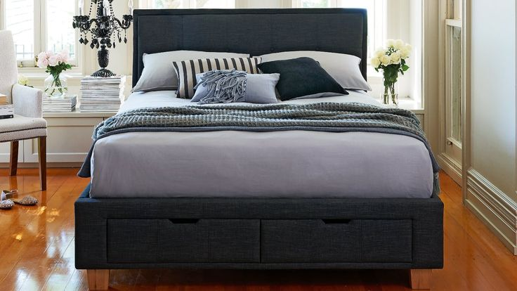 Home :: Bedroom :: Beds :: Bed Frames :: Halo 2 Drawer Bed Frame Charcoal