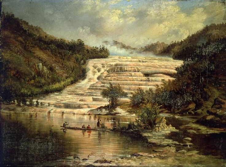 The Pink Terraces | NZHistory, New Zealand history online