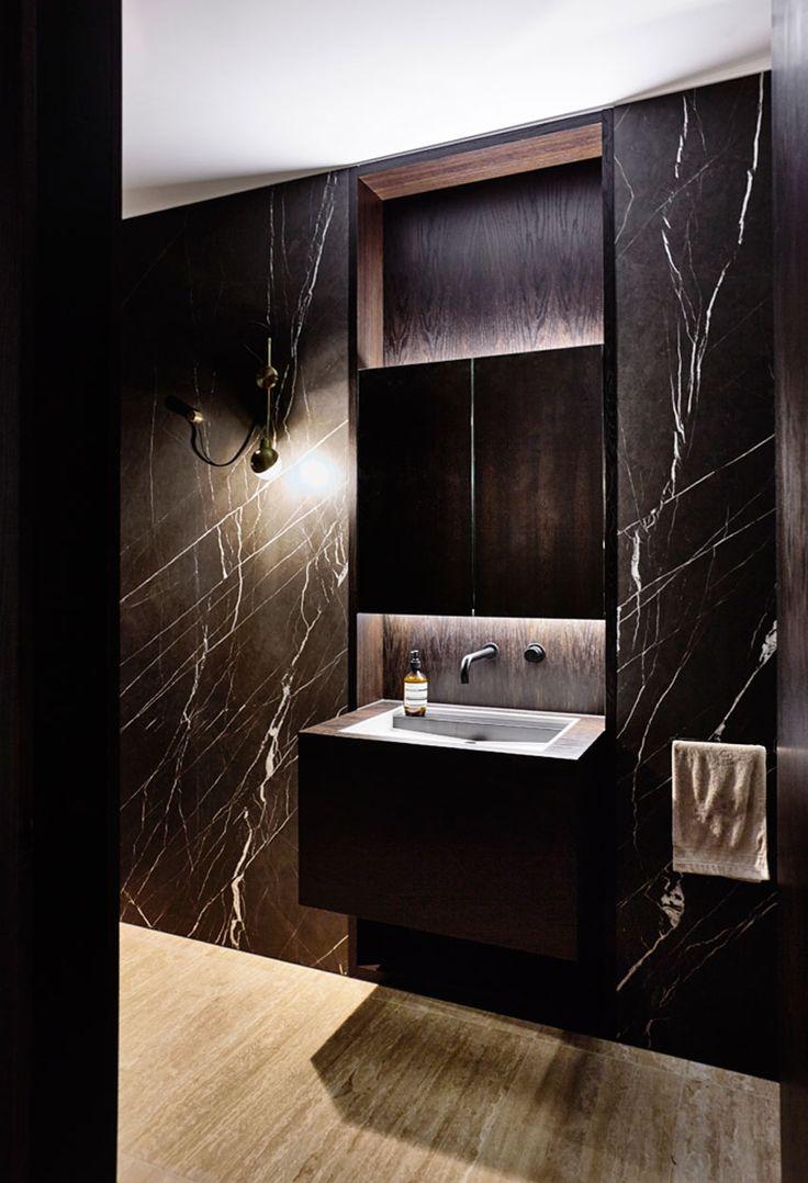 Contemporary condo bath modern bathroom chicago by jill jordan - Kooyong House In Melbourne S Toorak By Workroom