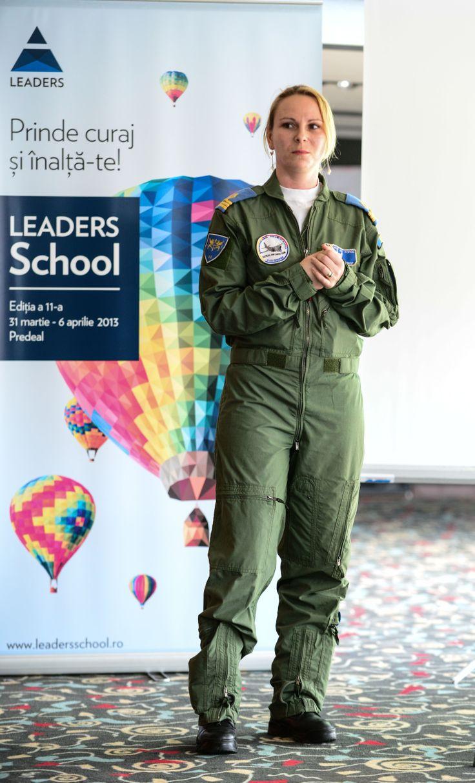 Cpt. Cmdr. Alexandra Cramar, Romanian Air Forces la LEADERS School, editia a 11-a, aprilie 2013. #leadersschool