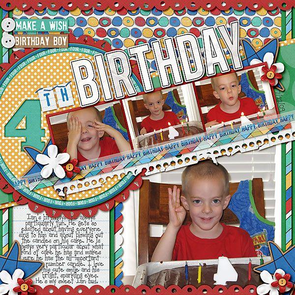Fourth Birthday - Scrapbook.com