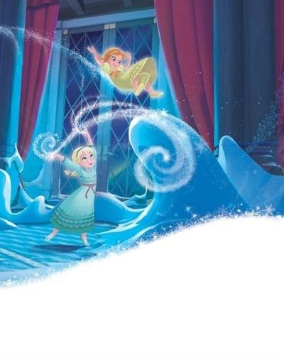 Official Frozen Illustration - Young Elsa and Anna ...