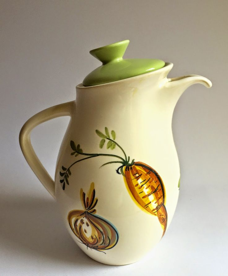 Diana Australia, 1950s Coffee Pot, with Vegetable Pattern.