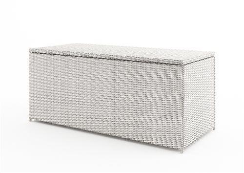 ulozny box z umeleho ratnu 160 cm biely