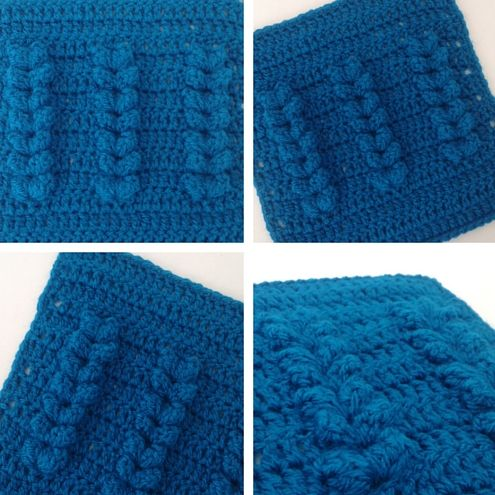 Crochet square pattern and tutorial. Scheepjes CAL 2016, week 1 - Block by Happy in Red
